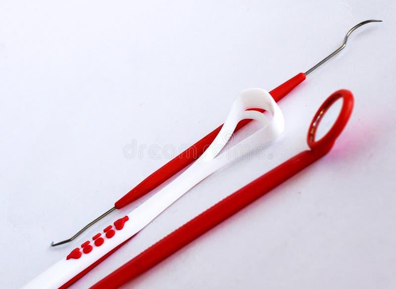Instruments d'équipement dentaire photo stock