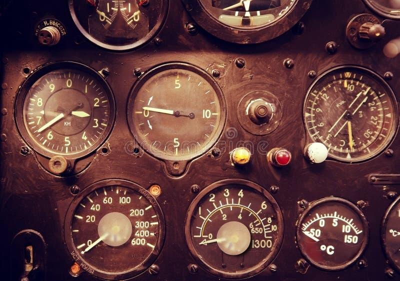 Instruments d'avion image stock