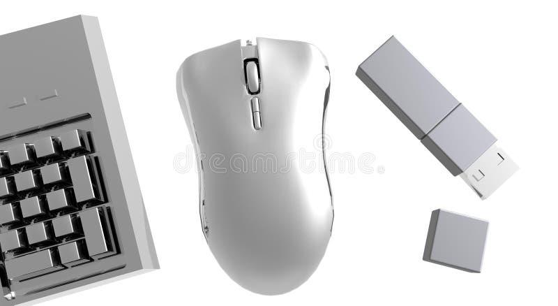 Instruments d'ordinateur photographie stock