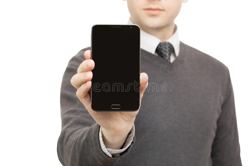 Download Instruments De Digital, Comprimés Et Smartphones - Mâle Ne Jugeant Aucun Smartphone De Marque Disponible Photo stock - Image du information, main: 77162582
