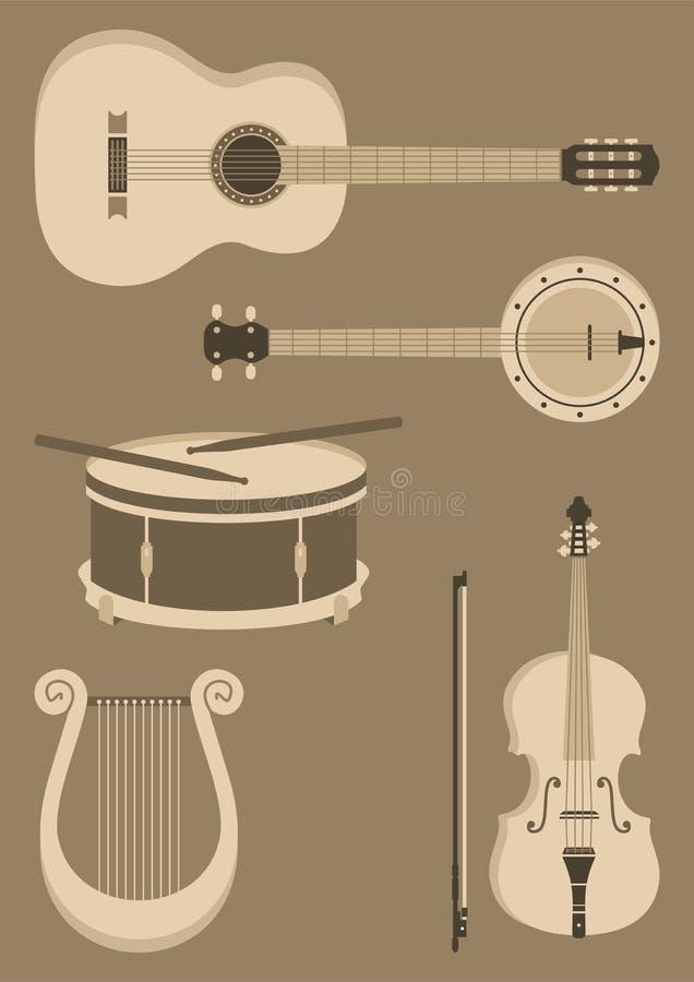 Instruments de ficelle photo stock