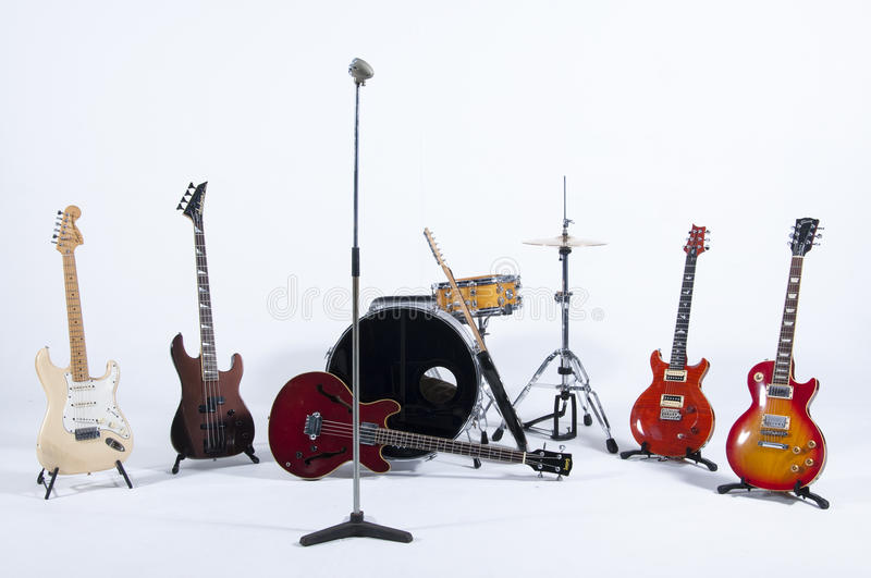 Instruments de groupe de rock image libre de droits