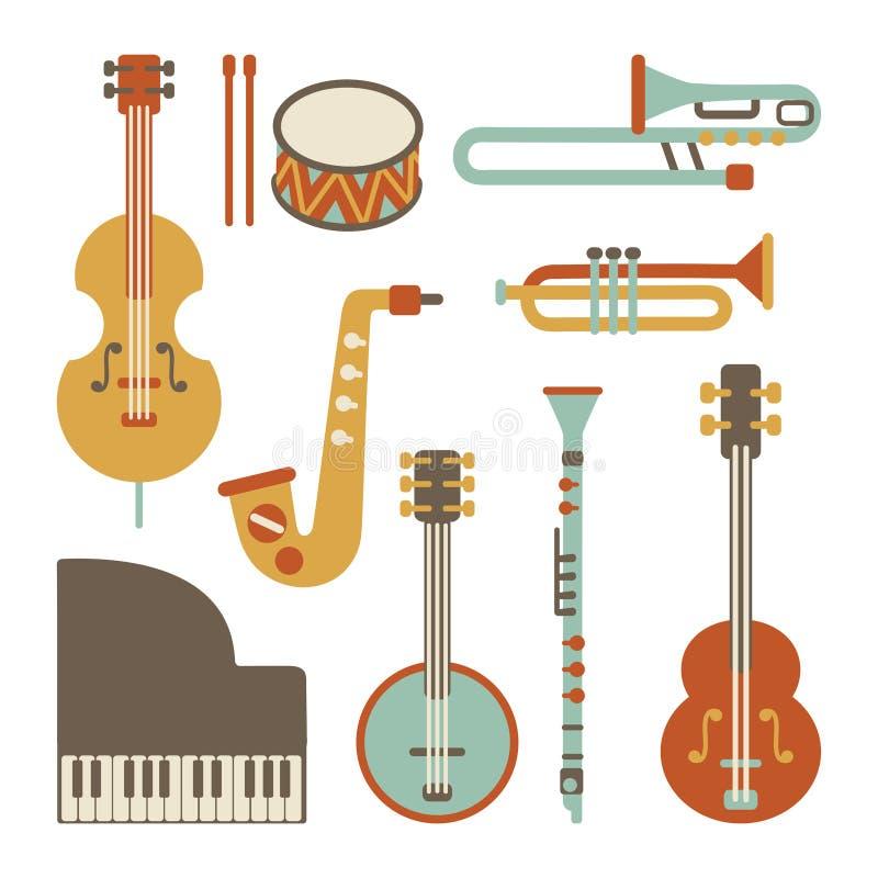 Instruments de jazz illustration libre de droits