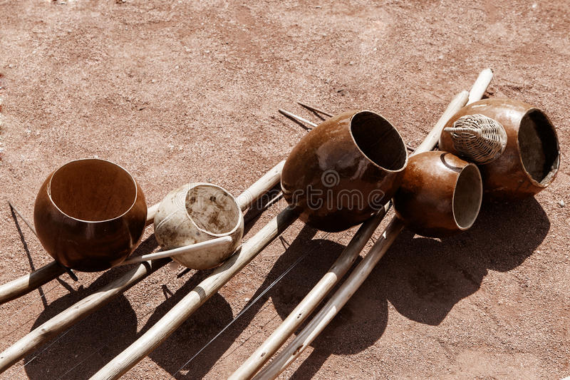Instruments de musique authentiques images stock