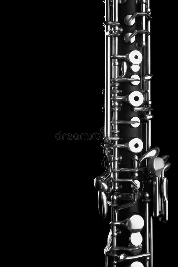 Instruments de musique d'orchestre - hautbois photo libre de droits
