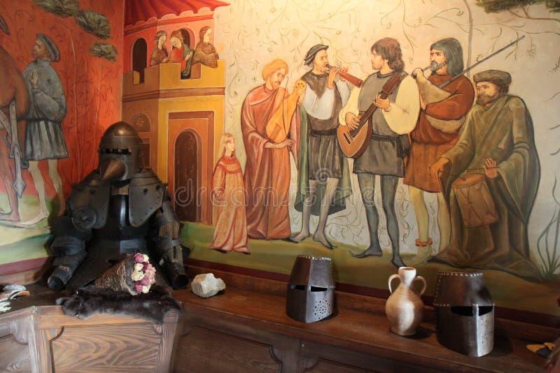 Instruments de musique des troubadours de château photos stock