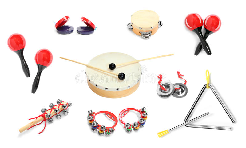 Instruments de percussion image stock