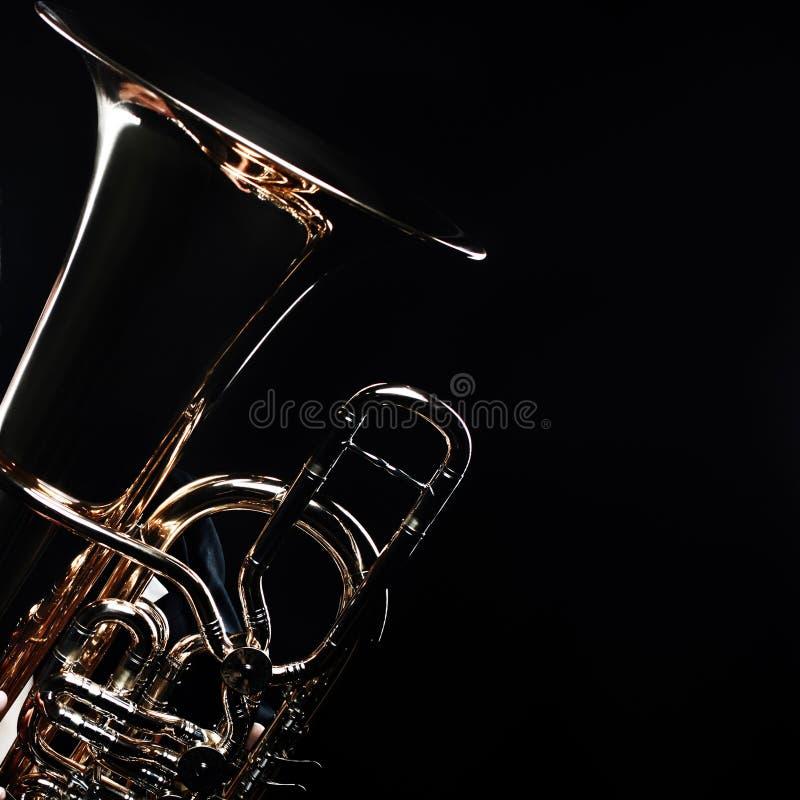 Instruments en laiton de tuba euphonium images stock