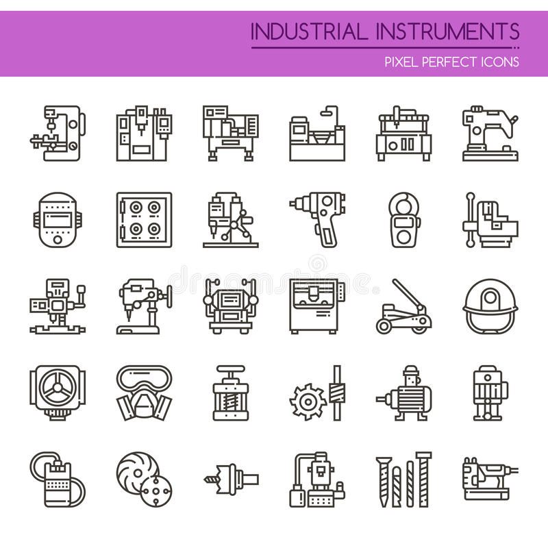 Instruments industriels illustration stock