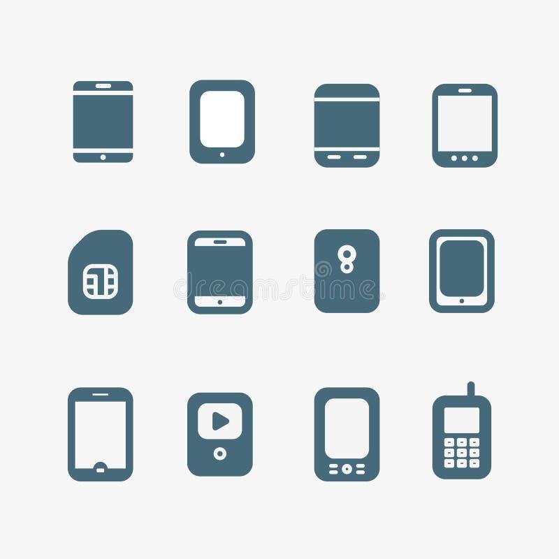 Instruments modernes et de vintage de mobile illustration stock