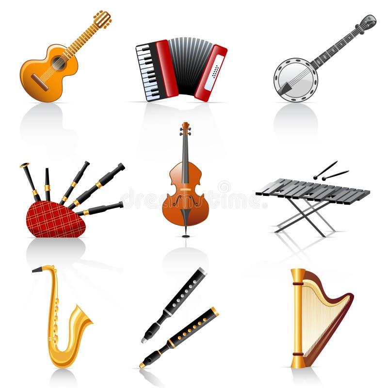 Instruments musicaux illustration de vecteur