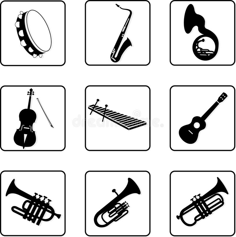 Instruments musicaux 6 illustration stock