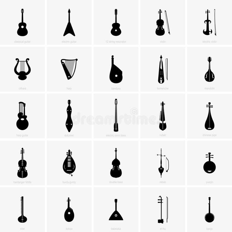 Instruments musicaux ficelés illustration libre de droits