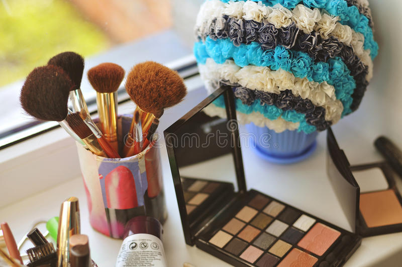 Instruments pour le maquillage photo stock