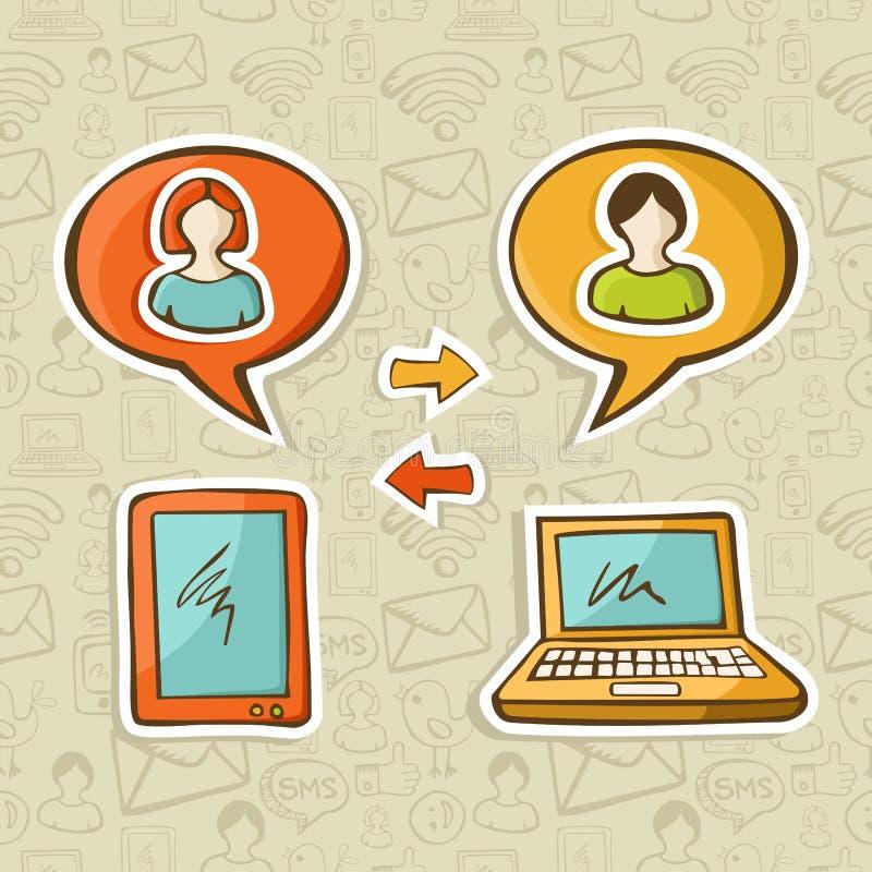 Instruments sociaux de medias connectant des gens