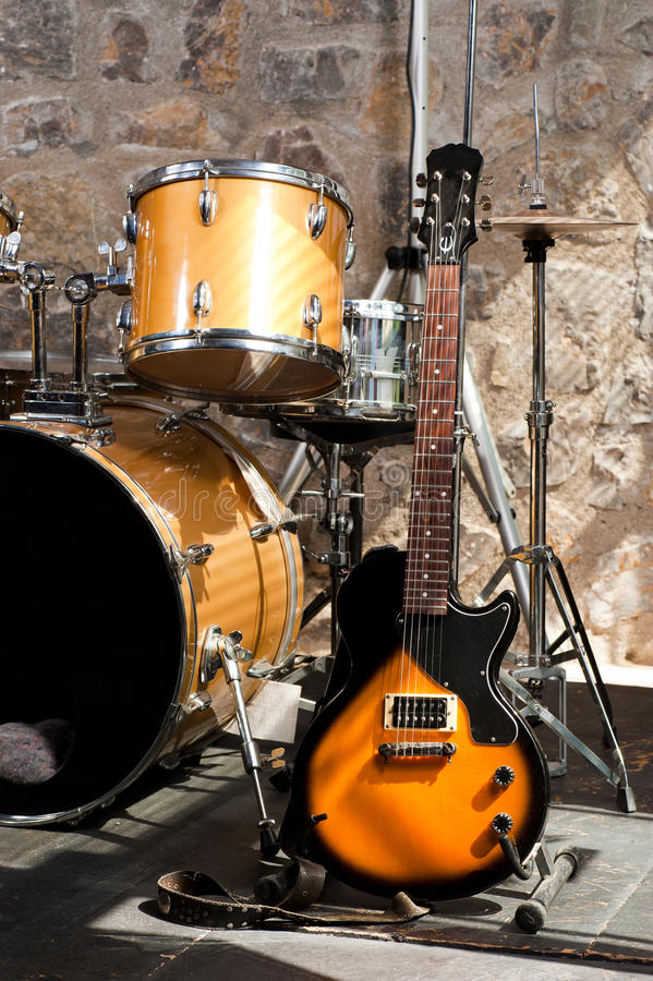 Download Instruments on stage stock photo. Image of jazz, equipment - 19459646