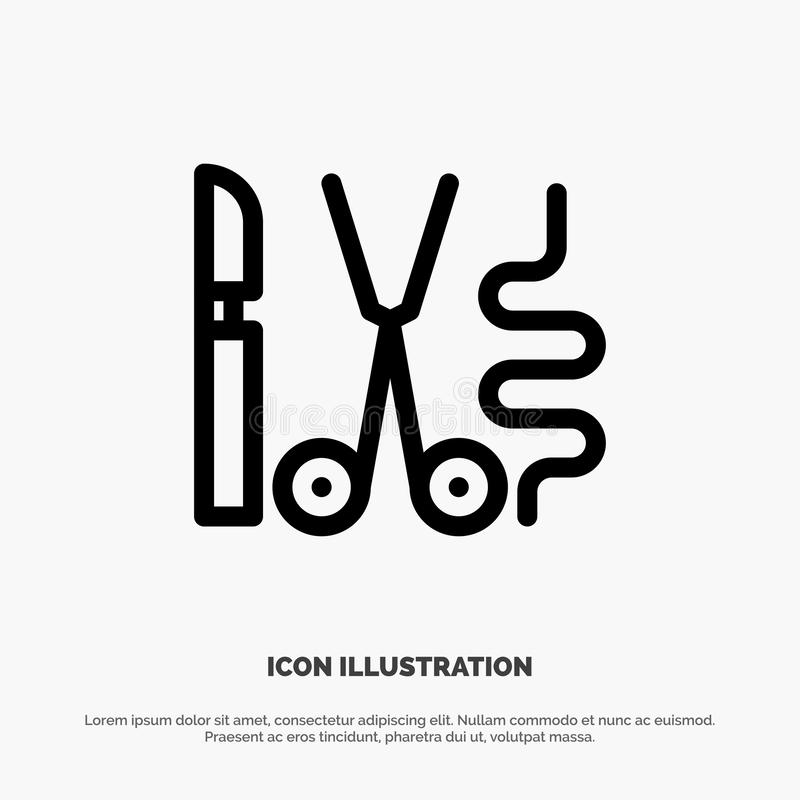 Instruments, Surgery, Tools, Medical Line Icon Vector stock illustration