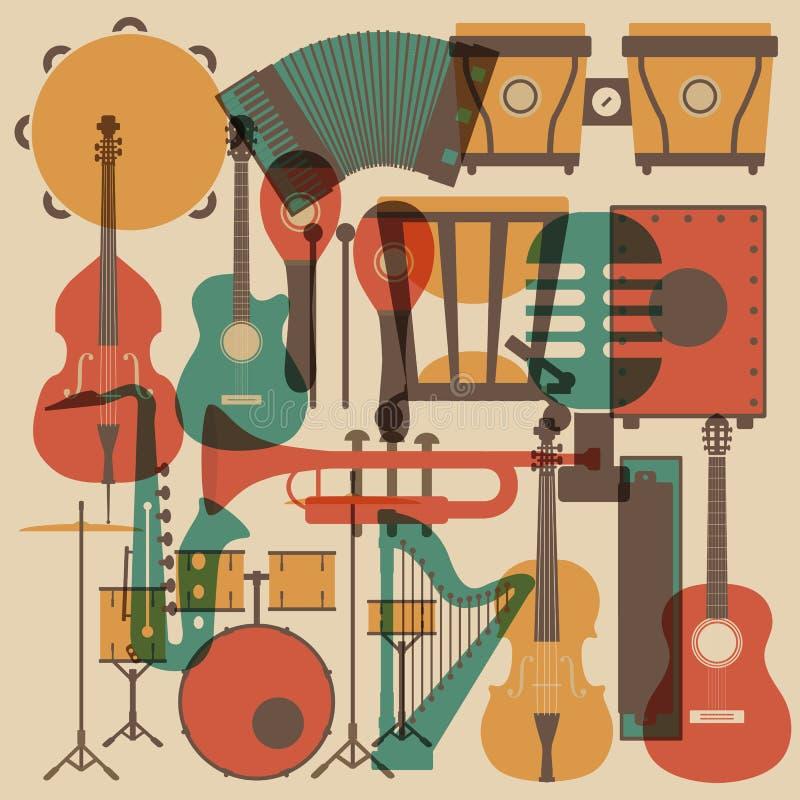 Instrumentsymbol vektor illustrationer