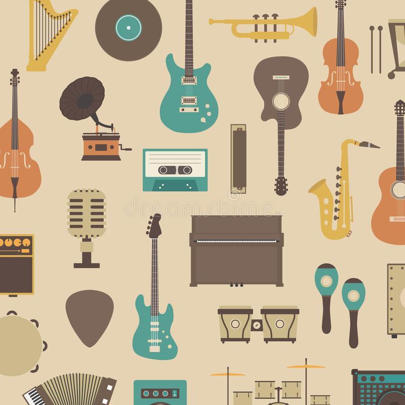 Instrumentsymbol royaltyfri illustrationer