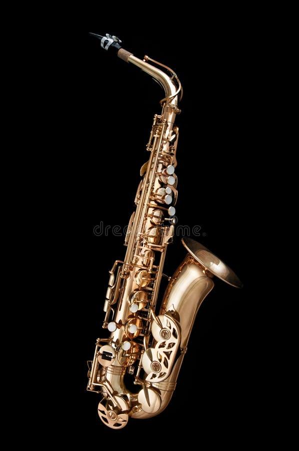 instrumentu jazzu saksofon fotografia stock