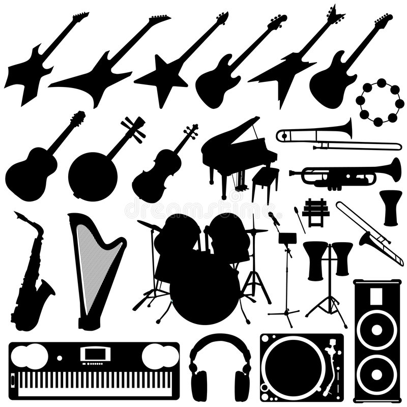 instrumentu muzyki set royalty ilustracja