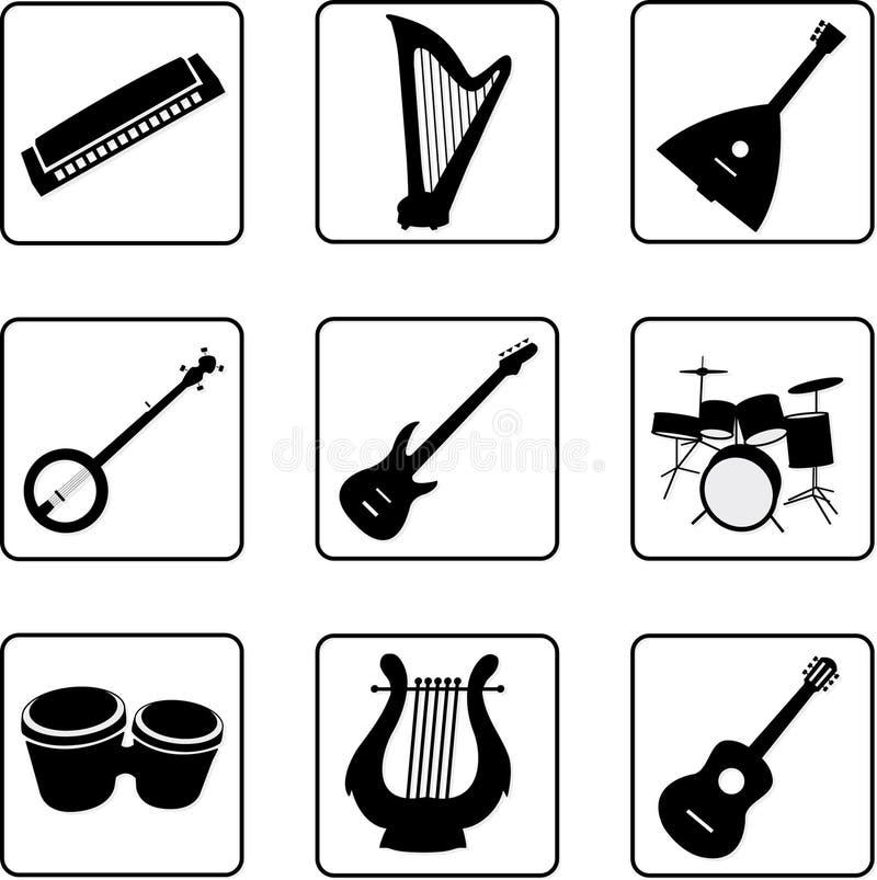 instrumenty 1 muzykalni royalty ilustracja
