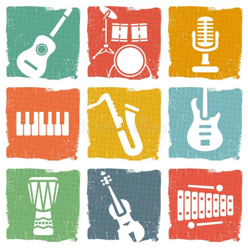 Instrumenty muzyczni ilustracja wektor