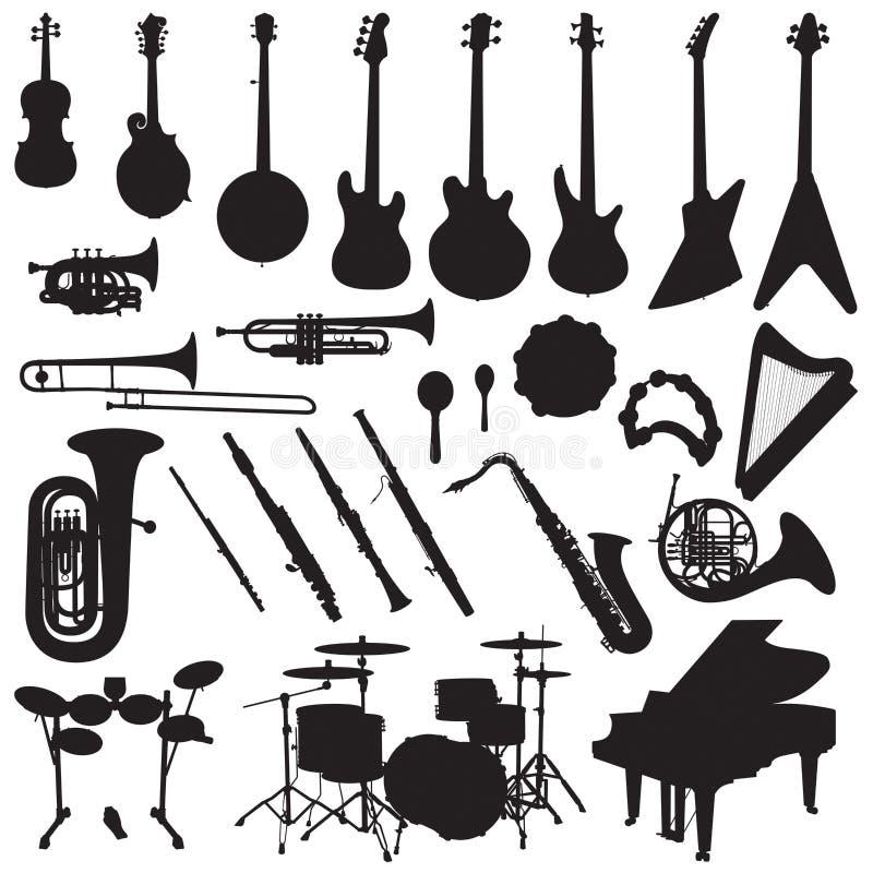 Instrumenty Muzyczni Wektorowi royalty ilustracja