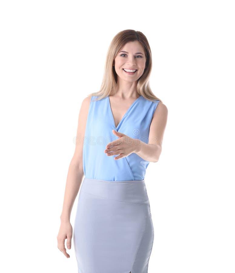 Instrutor fêmea do negócio fotografia de stock