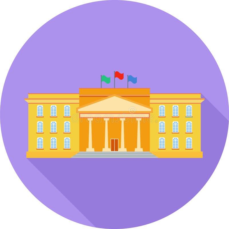 Instytuci Edukacyjnej mieszkania ikona obrazy stock