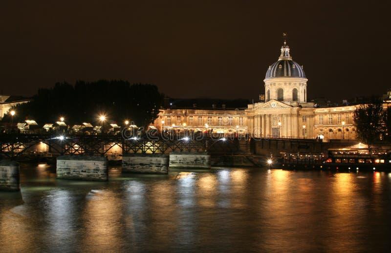instytut Paris france noc obraz stock