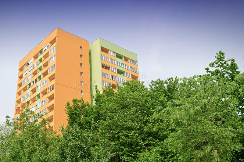 Insulated block of flats stock photos