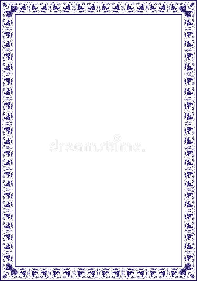 Insulated frame background pattern for certificate or diploma stock photos