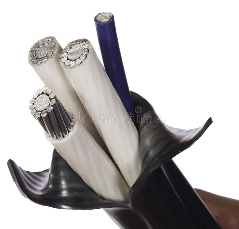 Insulated power cable royalty free stock image