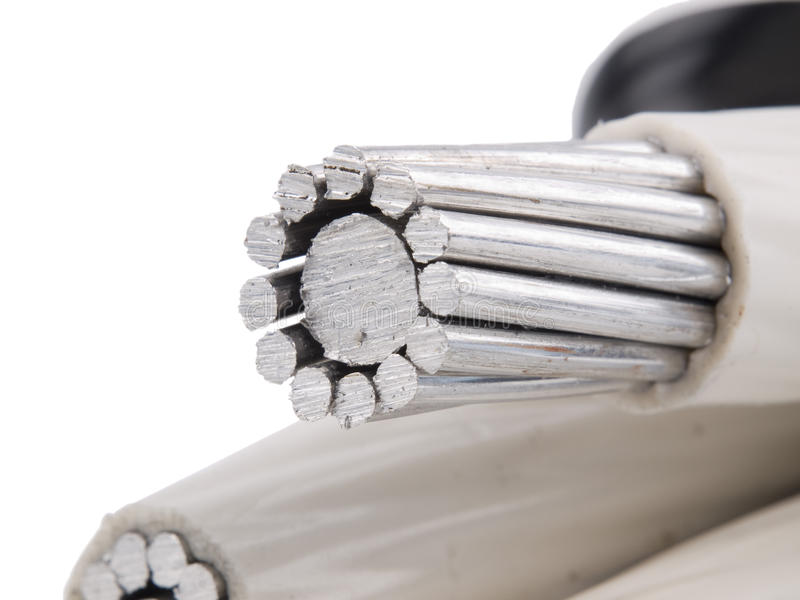 Insulated power cable royalty free stock images