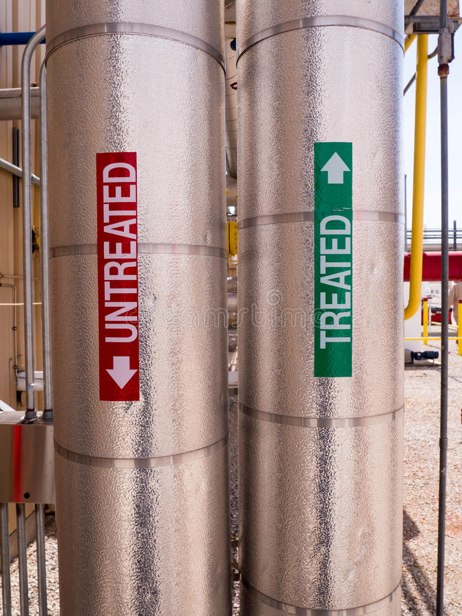 Insulated Process Piping royalty free stock photography