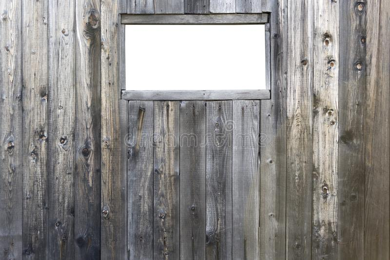 Insulated window on the barn royalty free stock photos