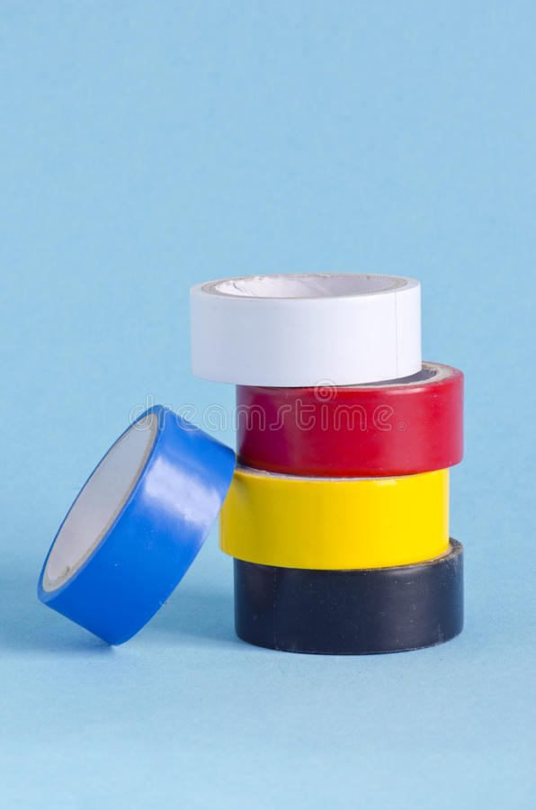 Download Insulating Tape On Azure Background Stock Image - Image: 25678471