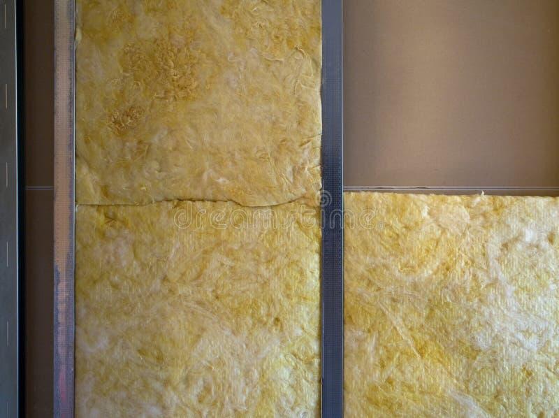 Download Insulation in wall stock image. Image of fiberglass, yellowish - 12883259