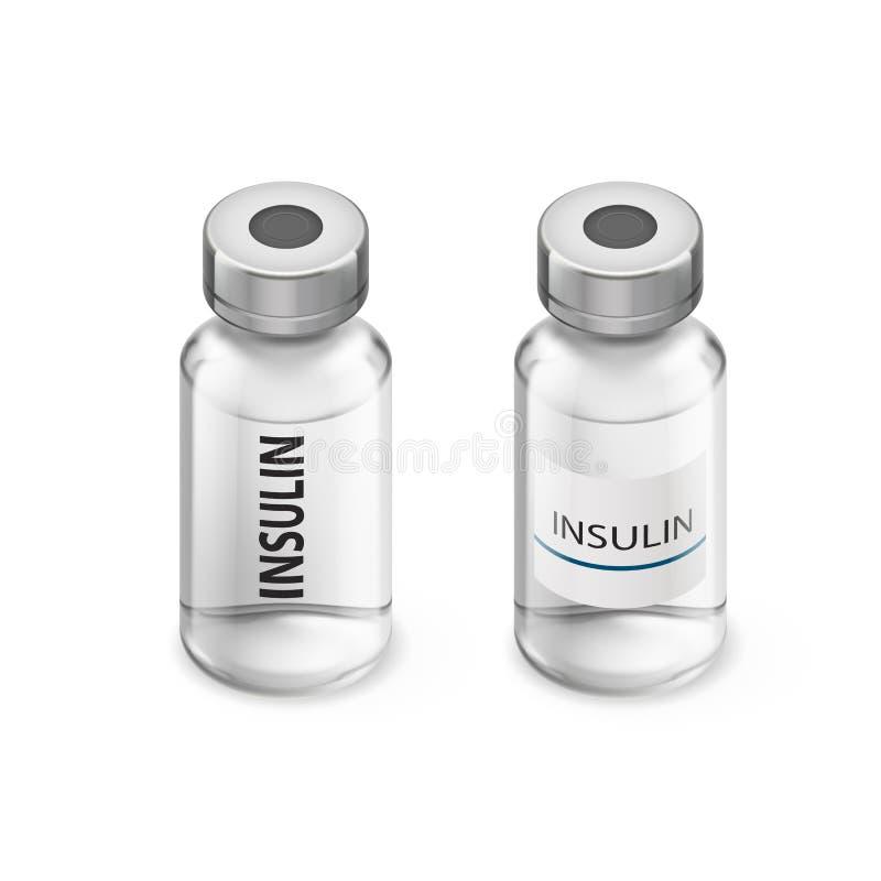 Insulin butelki ilustracja wektor