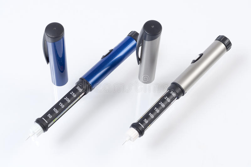 Insulin pens royalty free stock image