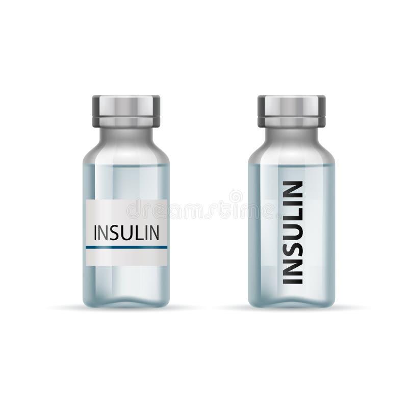 Insulineflessen royalty-vrije illustratie