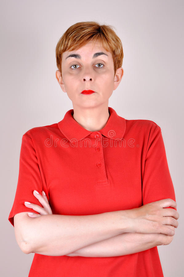 Insulted and jealous woman royalty free stock photos