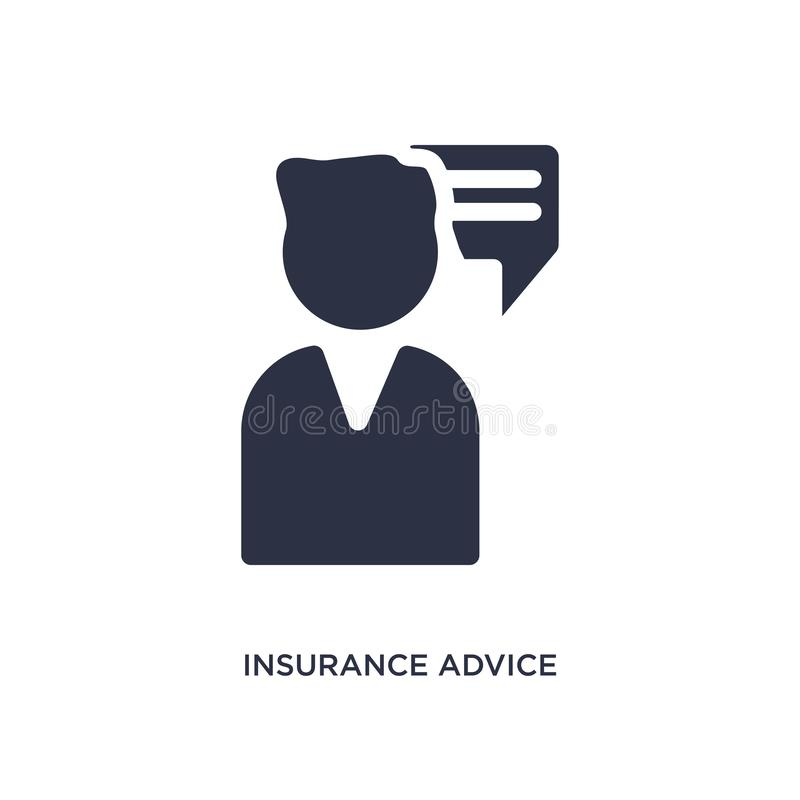 insurance advice icon on white background. Simple element illustration from insurance concept stock illustration