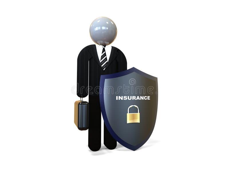 Insurance agent concept vector illustration