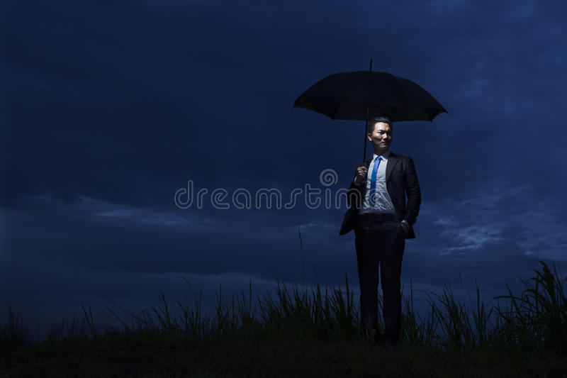 Download The Insurance Agent Holding Umbrella Stock Image - Image: 23137755