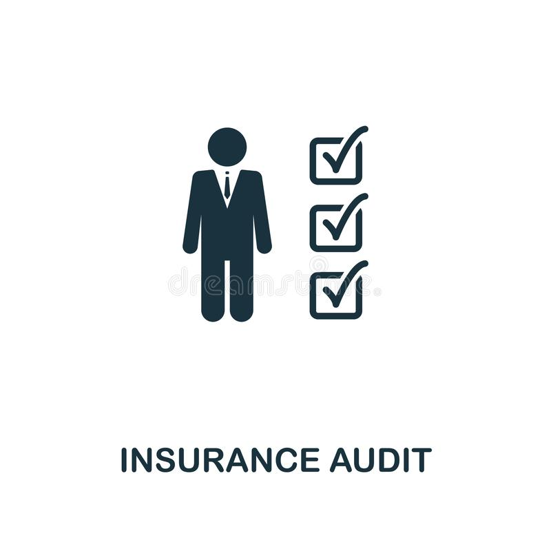 Insurance Audit icon. Line style icon design from insurance icon collection. UI. Illustration of insurance audit icon. Pictogram i stock illustration
