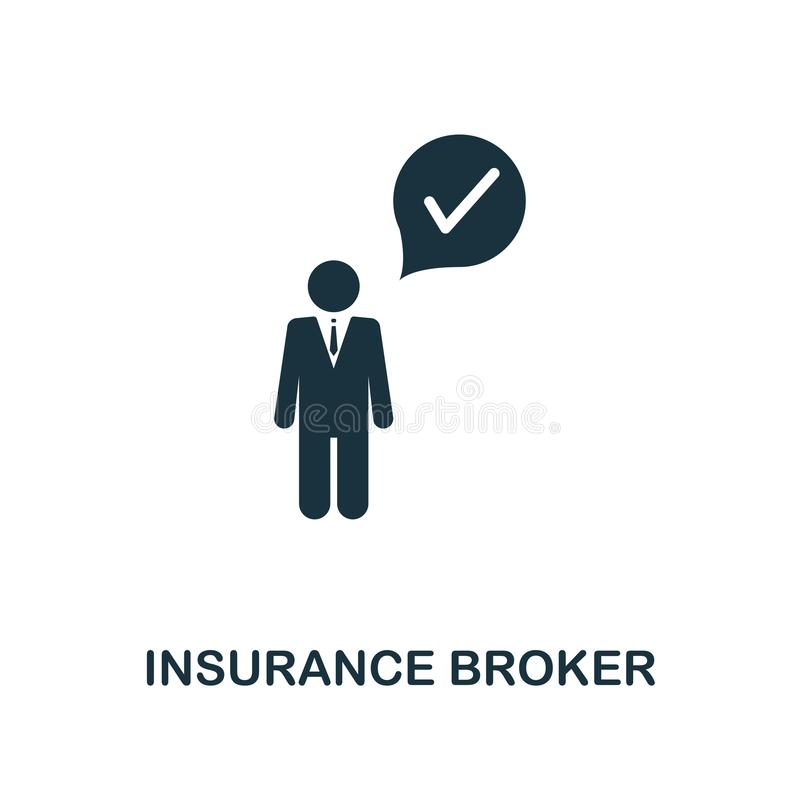 Insurance Broker icon. Line style icon design from insurance icon collection. UI. Illustration of insurance broker icon. Pictogram vector illustration