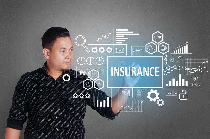 Insurance in Business Concept royalty free stock images