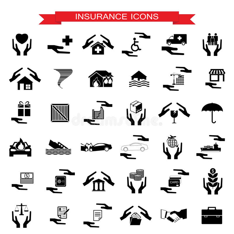 Insurance Car, home, disasters, investment, health, and travel i vector illustration